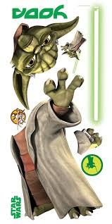 Wall Mural Decals Amazon by Amazon Com Roommates Rmk1402gm Star Wars The Clone Wars Yoda