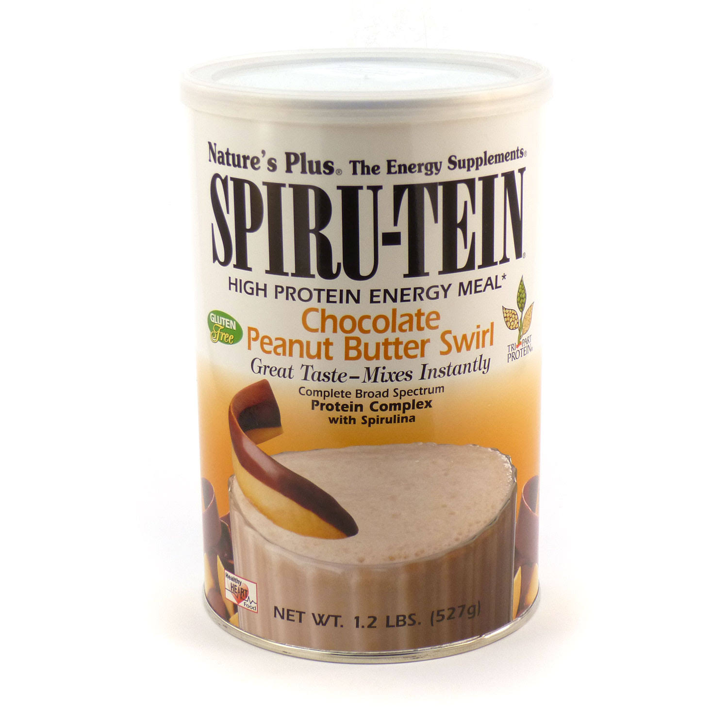 Nature's Plus Spiru-Tein Shake Chocolate Peanut Butter Swirl -- 1.2 lbs