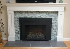 fireplace subway tile image by home builders glass subway tile