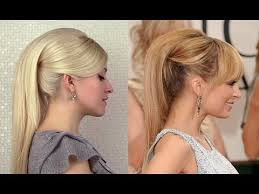 High Ponytail Hairstyles With Extensions 60s Retro Nicole Richie Frisuren Fur Mittel Lange Haare