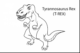 Superb Rex Tyrannosauru Dinosaur Coloring Page With Velociraptor And Pages