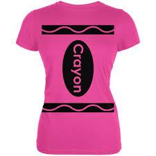 Dead Kennedys Halloween Shirt by Halloween Crayon Costume Pink Juniors Soft T Shirt U2013 Oldglory Com
