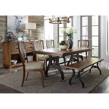 Liberty Arlington House Cobblestone Brown Poplar Wood/Acacia ... Modern Rustic 5piece Counter Height Ding Set Table With Storage Shelves Arlington House Trestle With 2 Upholstered Host Chairs Side And Bench Slat Back All Noble Patio Round Wicker Outdoor Multibrown Details About Delacora Webd48wai 5 Piece Steel Framed Barnwood Conference Room Tables 10 Styles To Choose From Ubiq Imagio Home 3piece Drop Leaf Black Leg 4 Best Spring Brunches Argos Tribeca Oak Two Farmhouse Pine Action Charcoal Liberty Fniture Industries Spindle Chair Of