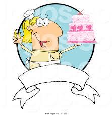 Royalty Free Baker and Cake 1 Vector Logo