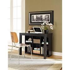 altra furniture parsons black oak desk 9394096 the home depot