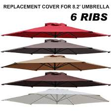 Patio Umbrella Replacement Canopy 8 Ribs by Sunrise Umbrella Uc 10 Tan 8 2ft Patio Umbrella Cover Canopy 6