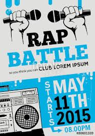 Rap Battle Concert Hip Hop MusicTemplate Design Flyer Poster