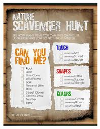 Printable Halloween Scavenger Hunt Clues by Nature Scavenger Hunt For The Kids Free Printable How To Nest