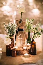 Wine Bottle And Burlap Table Numbers Rustic Wedding Decor