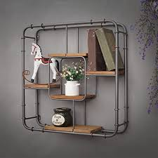intashj deko wandregal iron industrial style wand hängen