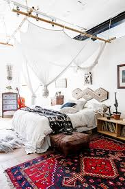 A Bold Bright Rug Mixed With Creative But Subtle Canopy Make This Bedrooms Decor