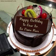 Awesome Birthday Cake With Name Boss Chocolate Birthday Cake Image Edit With Boss Name Wishes
