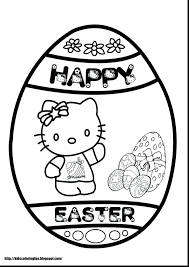 Hello Kitty Coloring Pages Religious Easter For Preschoolers