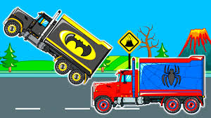 Cars & Trucks Cartoon For Kids | Heroes Truck | Video For Children ... Kids Truck Video Skidsteer Youtube Backhoe Toy Garbage Videos For Children Bruder Trucks Song The Curb Ambulance Fire And Rescue Engine For Monster Vs Sports Car Race Learn Vehicles Babies Toddlers With School Bus Spiderman Wash Videos Fast Police Cars To The