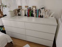 Malm 6 Drawer Dresser Dimensions by White Ikea Malm 6 Drawer Dresser With Frosted Glass Top In
