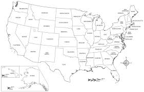 Us Map Coloring Page Printable Pages United States Picture