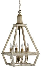 Addison Wood Chandelier Farmhouse Chandeliers by Out of the