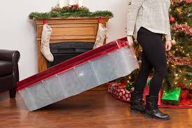 Christmas Tree Storage Tote Walmart by Amazon Com Iris Tree Storage Box Red Home U0026 Kitchen