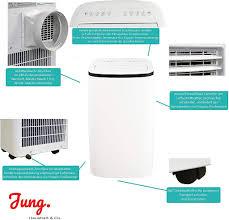 jung air tv08 mobiles klimagerät mit fernbedienung abluft schlauch 4 7 kw 16000 btu stromsparend geräuscharm 160m raum kühlung klimaanlage