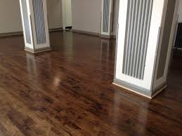 Old Maple Ballroom Refinished And Stained Dark Walnut Color