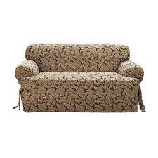 Sure Fit Scroll T Cushion Sofa Slipcover by Sure Fit Stretch Stripe 2 Piece T Cushion Sofa Slipcover