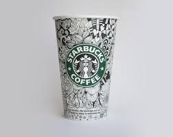 Starbucks Coffee Cup Drawing Design Mug Modern Home