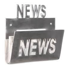 NEWS Zeitungsständer Wand Zeitungshalter Zeitschriftenhalter Alu