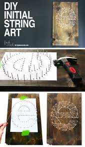 Take 20 Minutes And Create This Beautiful DIY Initial String Art Only A Few