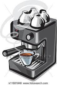 Clip Art Of Coffee Machine K11601848