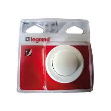 pied de le blanc interrupteur carré à pied 2 a blanc 91171 legrand home