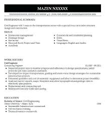 Resume In Civil Engineering Best Engineer Example Pdf