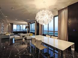 Modern Chandeliers Large Contemporary Minimalist Dining Room