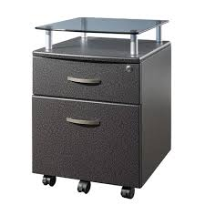 Rolling and Locking File Cabinet Gray Techni Mobili Tar