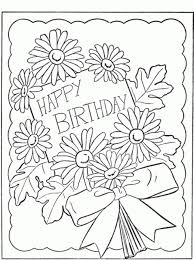 Free Printable Happy Birthday Coloring Pages For Kids Within Card