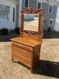 Tiger Oak Dresser Chest by Gorgeous Antique Faux Tiger Oak Dresser W Carved Detail U0026 Beveled