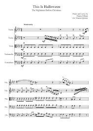 Danny Elfman This Is Halloween Download by Halloween Viola Sheets U2013 Festival Collections