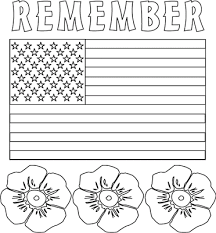 Free Flag Memorial Day Coloring Pages