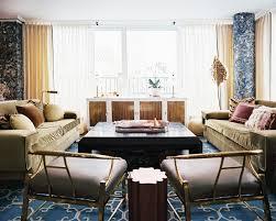 Blue Hollywood Regency Photos 26 Of 45 Living Room