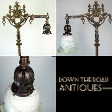 Rembrandt Floor Lamps Antique by Rembrandt Brass U0026 Marble Floor Lamp With Lion Head And Art Glass