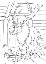 Frozen Sven At His Barn Coloring Page PageFull Size