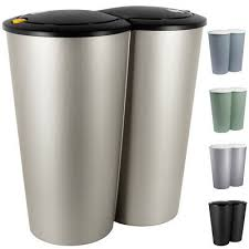 duo küchen mülleimer 2x20 liter schwarz matt abfalleimer