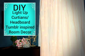 Icicle Lights In Bedroom by Diy Light Up Curtains Headboard Affordable Inspired Room