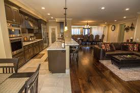 Open Concept Kitchen Dining Family Room Transitional Kitchen