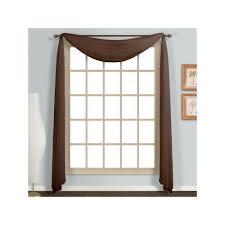 Sears Canada Sheer Curtains by United Curtain Co Monte Carlo Scarf Valance 59 U0027 U0027 X 144 U0027 U0027 Brown