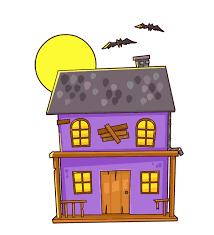 Cartoon Haunted House Clipart