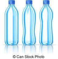 Water bottles on white Water bottles various forms