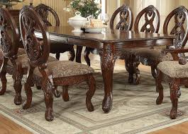 Ortanique Dining Room Chairs by Rovledo Traditional Cherry Wood Dining Table Kitchen Dining