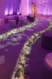 Perimeter Lighting Creates An Icy Glow For This Winter Wedding Venue