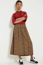 Urban Renewal Vintage Remnants Brown Floral Midi Skirt