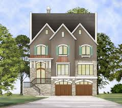 100 Three Story Beach House Plans Upscale Traditional Plan 12295JL Architectural